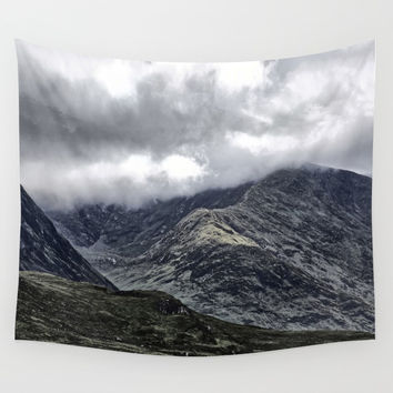 Glencoe in Scottish Highlands. Wall Tapestry by anipani