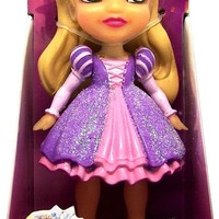Disney Princess Poseable Rapunzel Sparkle Collection Mini Toddler Doll 3""