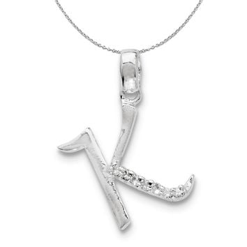Lex /& Lu Sterling Silver Polished /& Textured Dragonfly Pendant-Prime