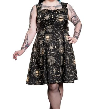 Spin Doctor Witchy Galaxy Cosmic Gothic Magical Hamsa Party Dress