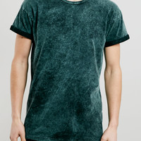 Green Tablet Wash T-Shirt - Topman