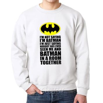 Personalized Cheap Batman sweatshirt Unisex Sweater Size S-5XL