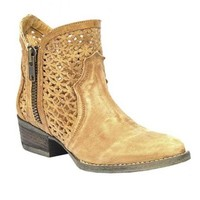 Circle G by Corral Tan Cutout Shortie Boots