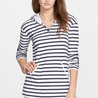 Women's Vineyard Vines 'Coastal Stripe' Hooded Pullover,