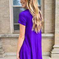 Streets of Rome Simple Purple Dress