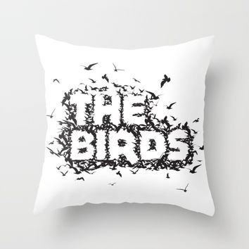 The Birds movie Throw Pillow by g-man