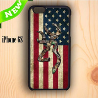 Dream colorful Browning Deer Camo American Flag iPhone 6S Case