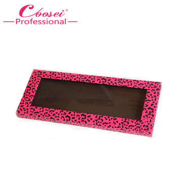 Empty Magnetic Eyeshadow Palette,Hot Pink Leopard Makeup Palette,Fill 12*36mm pans