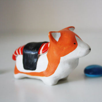 Corgi Sushi Figurine Miniature Spirit Animal Japanese