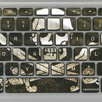 Skeleton Pirates Keyboard Stickers / Decals For MacBook (Pro 15 Inch)