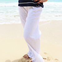 Essential Linen Pants in White