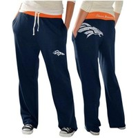 Denver Broncos Ladies Recruit Fleece Pants – Navy Blue