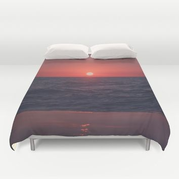 Restless Sunset Duvet Cover by Faded  Photos