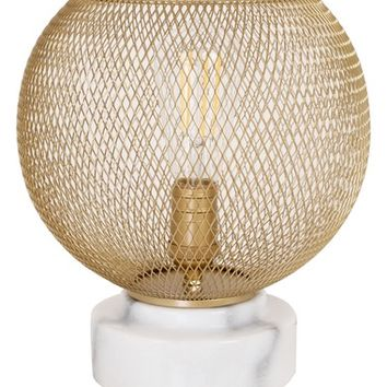cupcakes and cashmere Mesh & Marble Uplight Lamp | Nordstrom