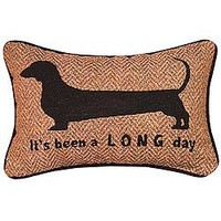 It's Been a Long Day Dachshund Throw Pillow - Cute Accent for Home - US Made