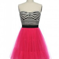 Glitter & Glam Rock Frock in Hot Pink