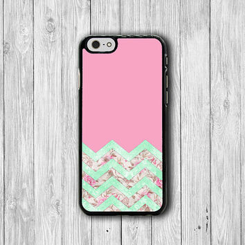 Pink Flower Chevron Flower Sweet Phone Cases, 80s iPhone 6 Cover, iPhone 6 Plus, iPhone 5, iPhone 4S Hard Case, Rubber Case Deco Boss Gift