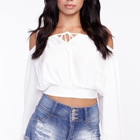 Distressed High Rise Shortie Short