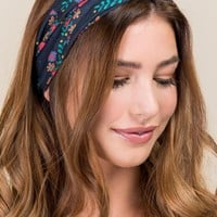 Boho Bandeau by Natural Life in Black Floral
