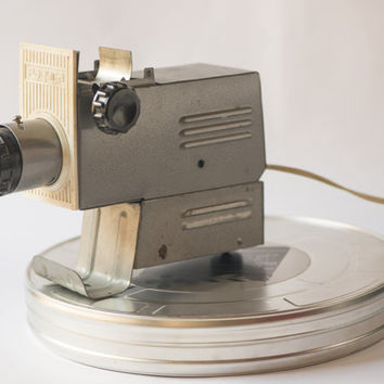 Soviet slide projector Raduga working vintage camera collectible grey metal home decor projector