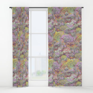 Life in Death Valley Window Curtains by Ben Geiger