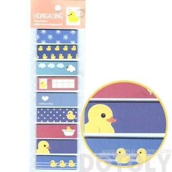Yellow Rubber Ducky Themed Rectangular Sticky Memo Post-it Note Tabs