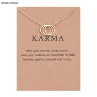 Karma Three Circle Necklace