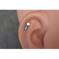 Round Gold Cartliage Earring Tragus Helix Piercing
