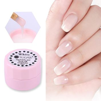 UR SUGAR 1Bottle 5ml Opal Jelly Gel Lacquer Semi-transparent White Soak Off UV Gel Polish Manicure Gel Polish