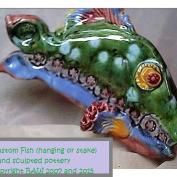 Pottery Fish- made to order ITPH