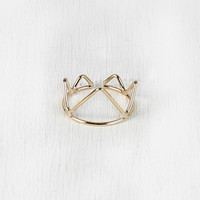 Cutout Crown Split Ring