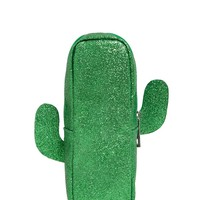 Glitter Cactus Makeup Bag