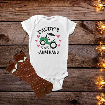Farmer Girl Onesuits®, Farm Onesuits®, Farm Baby Clothes, Baby Girl Clothes, Baby Shower Gift, Country Baby Clothes, Tractor Onesuit®