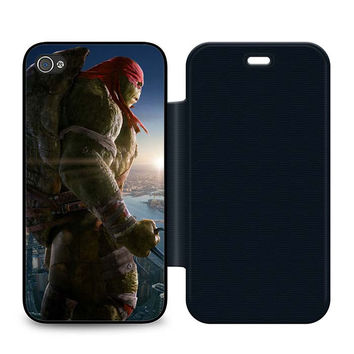 Ninja Turtles Raphael Leather Wallet Flip Case iPhone 4 | 4S