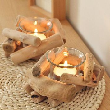 handmade wood candle holder set home gift 21 2