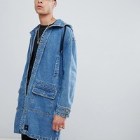 Sixth June denim hooded jacket in blue exclusive to ASOS at asos.com