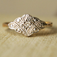Vintage Diamond Engagement Ring Antique Diamond by luxedeluxe