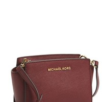 Women's MICHAEL Michael Kors 'Selma - Mini' Saffiano Leather Messenger Bag