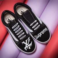 Vans x LV x Supreme 2017ss Old Skool Skateboarding Shoes 35-44