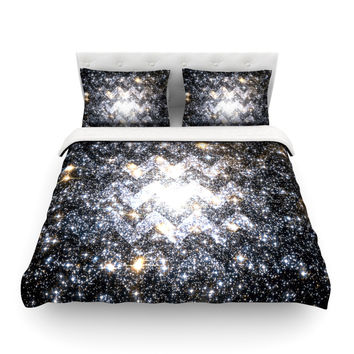 "Suzanne Carter ""Messier Chevron"" Featherweight Duvet Cover"