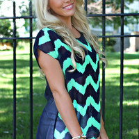 Peep This Chevron Top