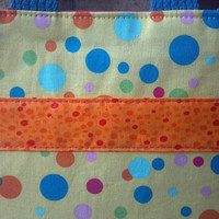 SALE. Toddler's Tote: colorful dots with hot pink lining ~ Kid Tote ~ Child Tote Bag ~ Mini Tote ~ Small Book Bag