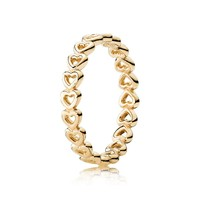 PANDORA Gold Linked Love Ring