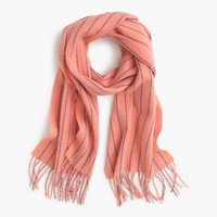 J.Crew Womens Collection Pinstripe Cashmere Scarf