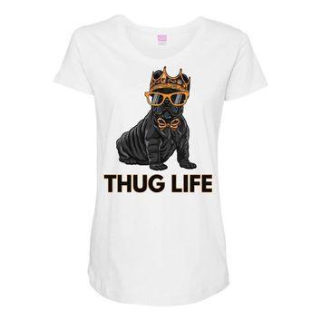 thug life Maternity Scoop Neck T-shirt