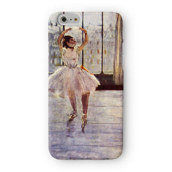 Ballerina Girl 2 by Edgar Degas Full Wrap 3D Printed Case  for Apple iPhone 6 by Painting Masterpieces