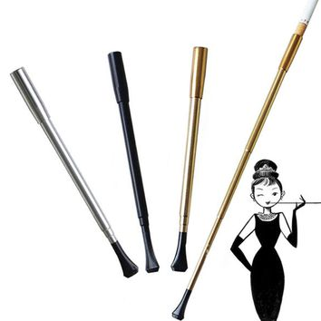 Women's long series retractable vintage cigarette holder smoking pipe or Photographic props