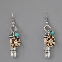 Silver Bullet Charm Shotgun Earrings