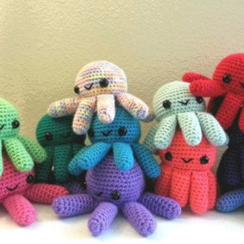 Choose Your Own Big Octopus - ANY COLOR, Made to Order - Amigurumi Crochet Plushie