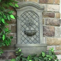 Outdoor Classics Rosette Solar Wall Fountain